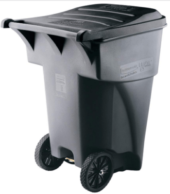 rubbermaid garbage can with wheels