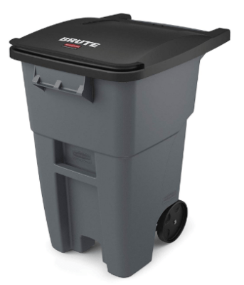 rubbermaid trash can with wheels