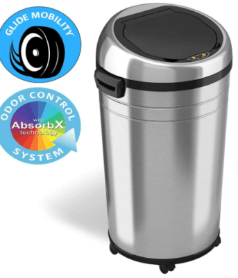 garbage can with wheels