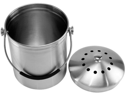 kitchen compost bin stainless steel