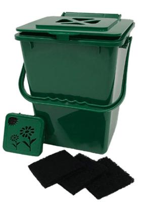 compost bin in kitchen