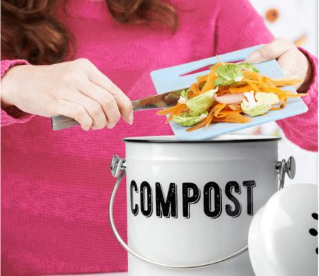 kitchen compost bin charcoal filter