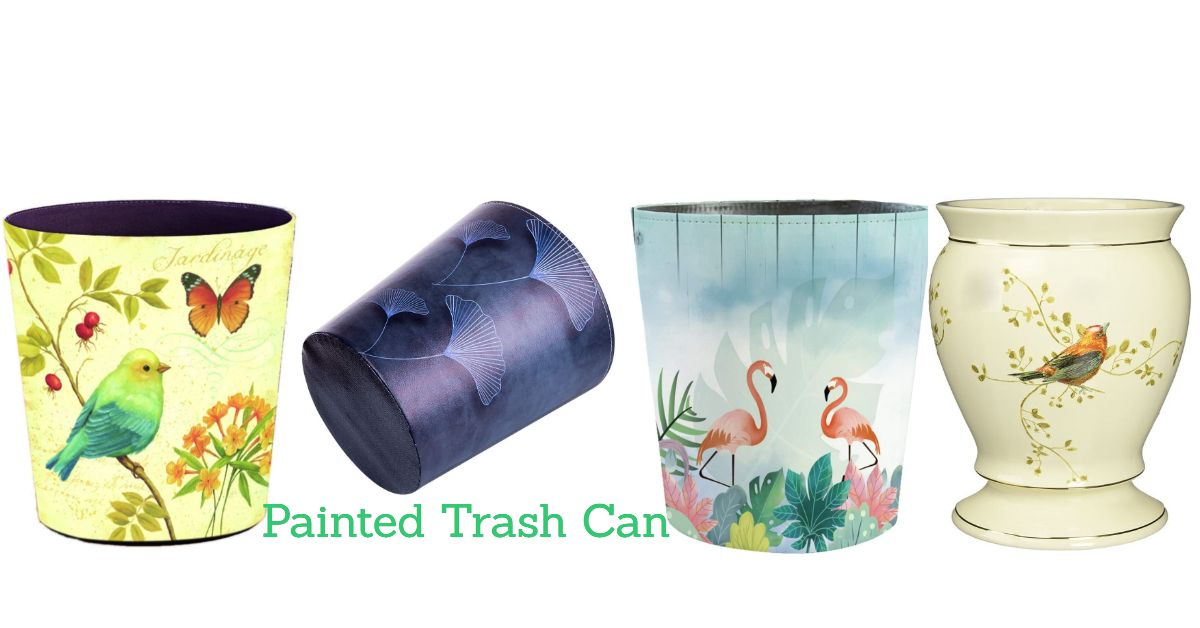 decorative trash can